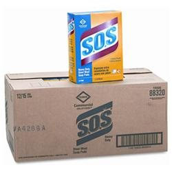 Clorox 88320BX S.O.S Steel Wool Soap Pad 15 Pads/box