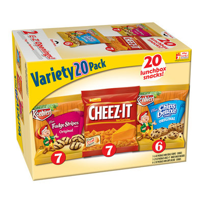 Keebler Fudge Stripes/Cheez-It/Chips Deluxe Cookies & Crackers Variety Pack