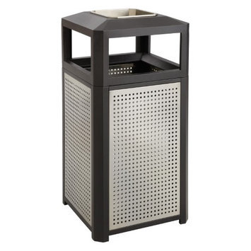 Safco 15 Gallon Evos Series Steel Ash Waste Receptacle