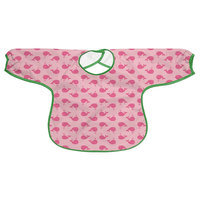 i play Slicker Waterproof Toddler Bib in Pink Whales