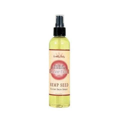Earthly Body Edible Glow Oil Spray, Strawberry, 8 ounces Bottle