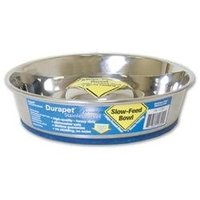 Ourpet's Company Durapet Slow Feed Stainless Steel Pet Bowl Small
