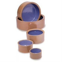 Ethical Pet Products Ethical Pet Crock Cat and Reptiles Ceramic Dish in Tan and Blue