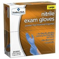 Member's Mark Nitrile Exam Gloves (Large)