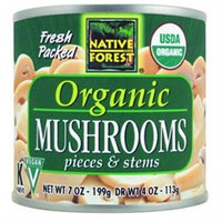 Native Forest - White Mushrooms Organic Pieces & Stems - 4 oz.