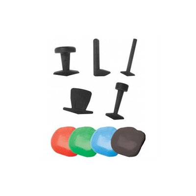 Fabrication Enterprises 10-2834 Puttycise Theraputty set- hard- 5 tools- Four 6 oz Theraputty- Red- Green- Blue- Black