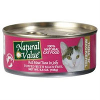 Natural Value Cat Food - Red Meat Tuna in Jelly with Mackerel - 24 x 5.5 oz