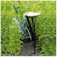 ACHLA Designs CTBB-02 Wrought Iron Cattail Single Birdbath