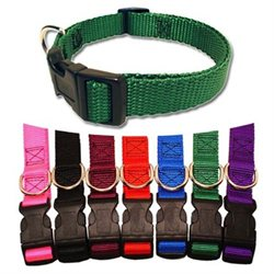 Majestic Pet Products, Inc. Majestic Pet Adjustable Nylon Dog Collar - Red Large