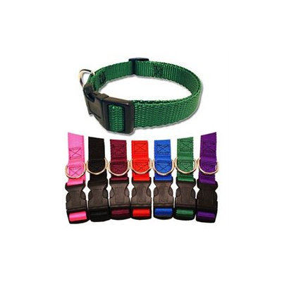 Majestic Pet Products, Inc. Majestic Pet Adjustable Nylon Dog Collar - Green Medium