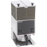 Bunn LPG2E Low Profile Portion Control Grinder with 2 Hoppers