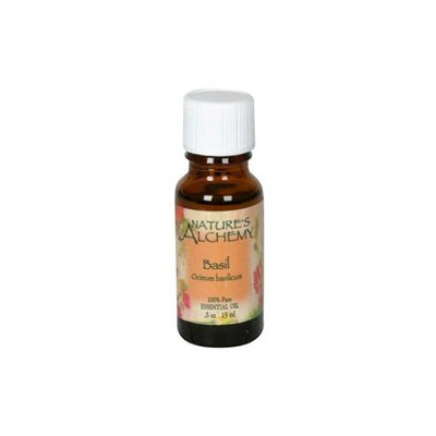 tures Alchemy Pure Essential Oil Basil, 0.5 oz, Nature's Alchemy