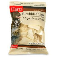 Hartz 97721 1 lb Chicken Dental Basted Rawhide Chips