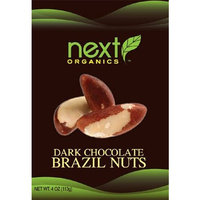 Next Organics Next Organic Brazil Nuts Dark Chocolate Covered, 4-Ounce (Pack of 3)