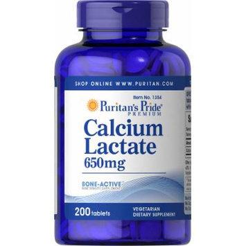 Puritan's Pride Calcium Lactate 650 mg -200 Tablets