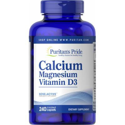 Puritan's Pride Calcium Magnesium with Vitamin D-240 Caplets
