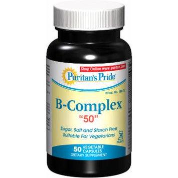 Puritan's Pride Vitamin B-50 Complex 50 mg Kosher-50 Capsules