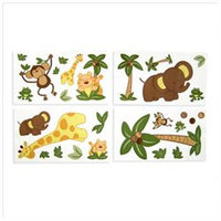 NoJo Collections Jungle Babies Wall Decals