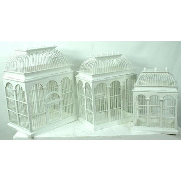 Link Direct Pinnacle Strategies US9018-28 3-Piece Bamboo Birdcage
