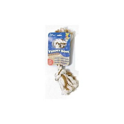 Aspen Booda Pet Products Booda Yummy 2 Knot Rope Bone Peanut Butter Large