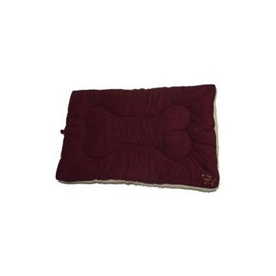 Best Publishing Company Best Pet Supplies MT861S Pet Crate Mat in Burgundy Faux Suede - Small