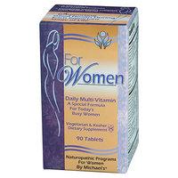 Michael's Naturopathic Programs - For Women Daily Multi-Vitamin - 90 Vegetarian Tablets