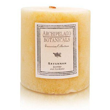Archipelago Botanicals Candle Pillars (3.5x3.5 inch Duo) - Savannah