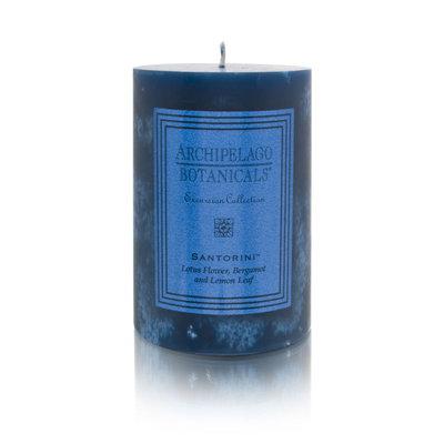 Archipelago Botanicals Candle Pillars (3x2 inch Duo) - Santorini