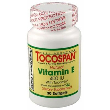 TOCOSPAN the full spectrum Vitamin E (400 IU Formulation) 30 Softgels