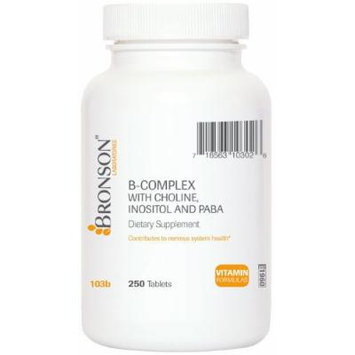 Bronson Labs: B-complex with Choline, Inositol and Paba (250)