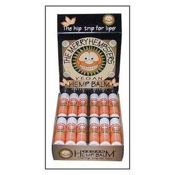 Vegan Hemp Lip Balm Mandarin-Orange Merry Hempsters 0.14 oz Lip Balm