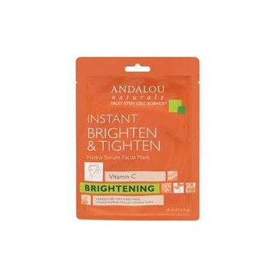 Andalou Naturals Instant Brighten & Tighten Hydro Serum Facial Mask, 0.6 Oz