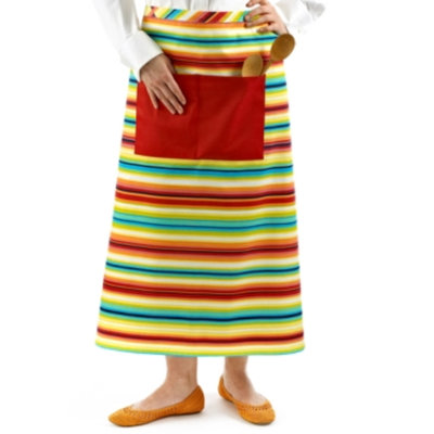 Fiesta Chef's Apron, Multicolored Stripe