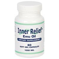 Longview Farms Inner Relief Emu Oil Gcaps 1000MG - 60 Softgels - Travel & Kits