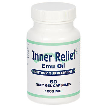 Longview Farms Inner Relief Emu Oil Gcaps 1000MG - 60 Softgels - Travel & Kits