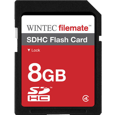 Wintec FileMate 8GB SDHC Secure Digital Flash Memory Card