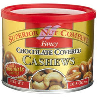 Superior Nut Company Superior Nut Fancy Chocolate Covered Cashews, 10.5-Ounce Canisters (Pack of 6)