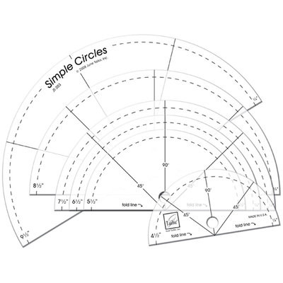 Simple Circles Rotary Cutting Rulers-Set Of Six
