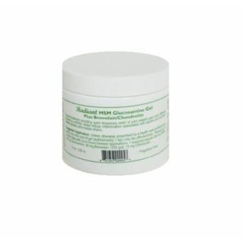 Natural Radiance MSM Gel Plus Glucosamine Bromelain and Chrondroitin Jar, Odorless and Unscented, 4 Ounce