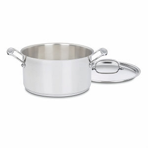Cuisinart 744-24 Chef's Classic Stainless 6-Quart Sauce Pot w/Cover