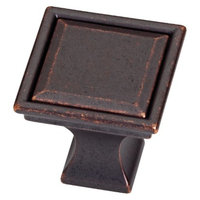 Threshold 10-Pack Vista Square Knob - Oil-Rubbed Bronze