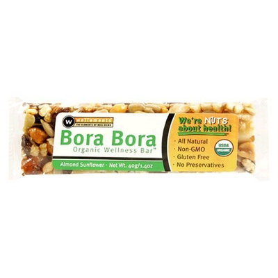Wellements Bora Bora Organic Wellness Snack Bar, Almond Sunflower , 1.4 oz (40 g) 12pk