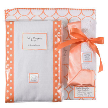 SwaddleDesigns Boxed Gift Set - Orange Mod Circles