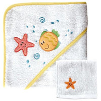 Baby Vision Luvable Friends Hooded Towel & Washcloth