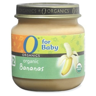 O Organics for Baby Organic Bananas, Stage 2, 4-Ounce Jars (Pack of 12)
