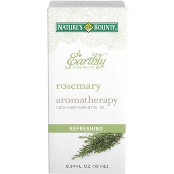 Nature's Bounty Earthly Elements Aromatherapy Rosemary 100% Pure Essential Oil, 0.34 fl oz
