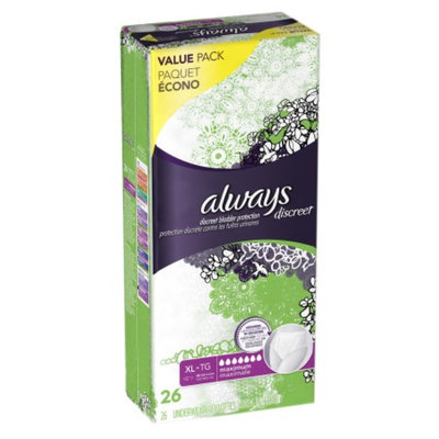 Always Discreet Maximum Absorbency Incontinence Underwear Extra-Large