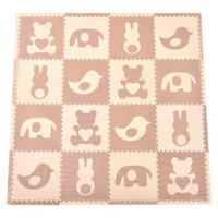 16-Piece Playmat Set - Teddy and Friends in Brown by Tadpoles