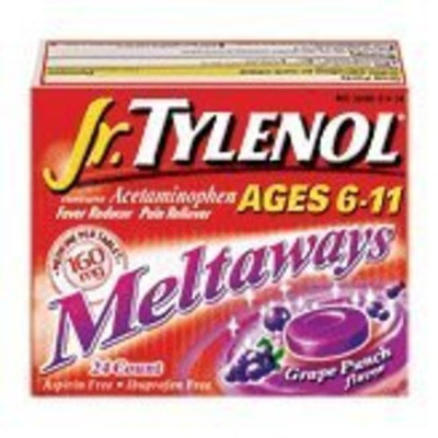Tylenol® Jr Meltaways Grape Tablets