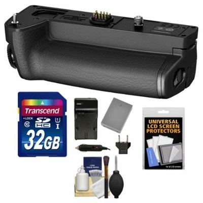 Olympus HLD-7 Power Battery Holder Grip for OM-D E-M1 Digital Camera with 32GB Card + BLN-1 Battery & Charger + Kit